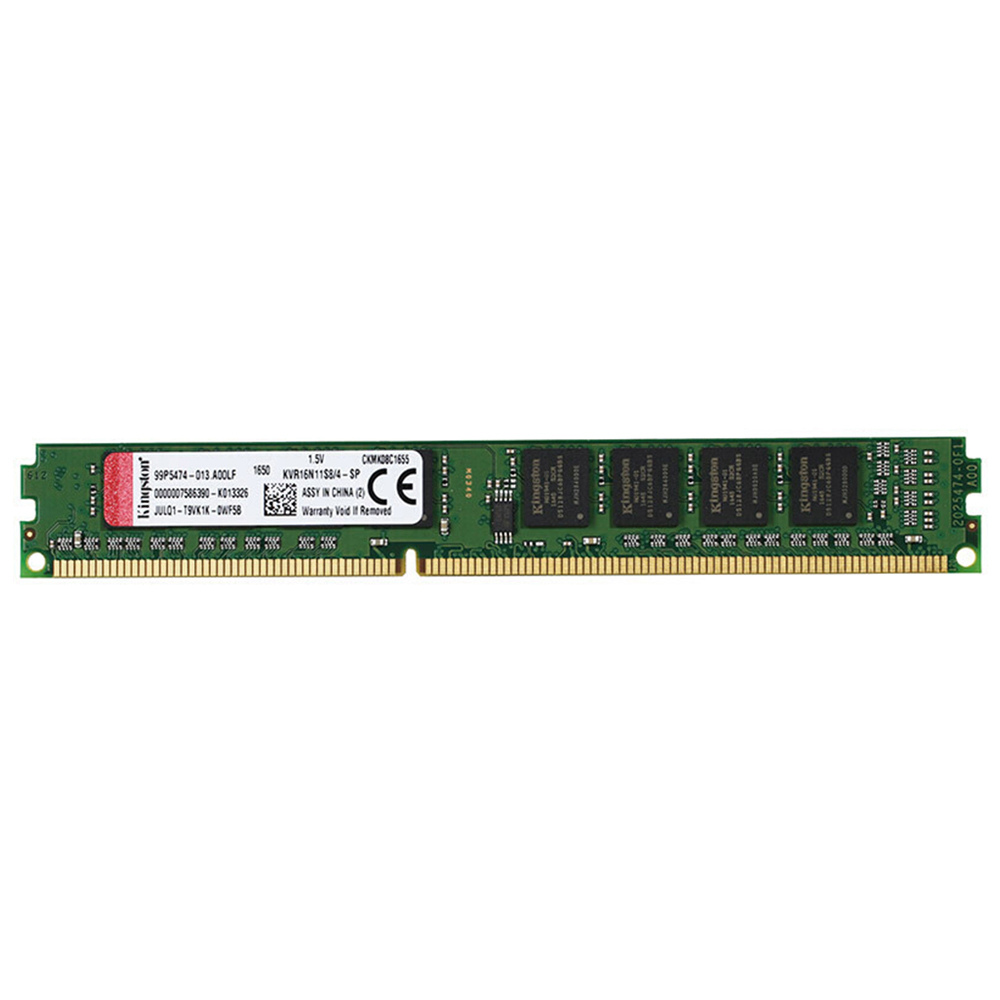 Kingston ValueRAM 240PIN DDR3 1600MHz 4GB DIMM Modulo di memoria della scheda madre non ECC Unbuffered - Verde