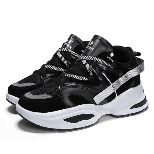 G890 Men's Chunky Sneakers Comfortable Fashion Athletic Shoes EU43 - Black