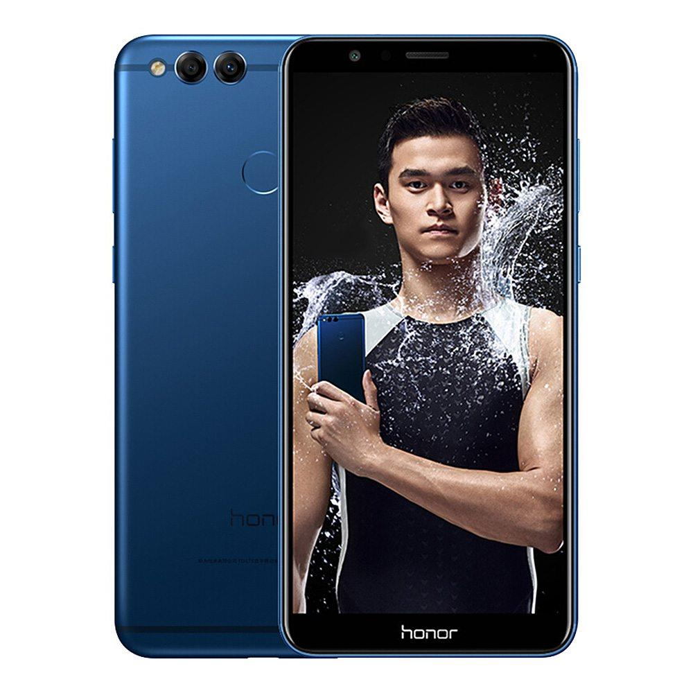 HUAWEI Honor 7X 5.93 Inch Smartphone 18:9 Full Screen 4GB 64GB Kirin 659 Octa Core Dual Rear Cam Android 7.0 Touch ID 3340mAh Battery Metal Body Global Version - Blue