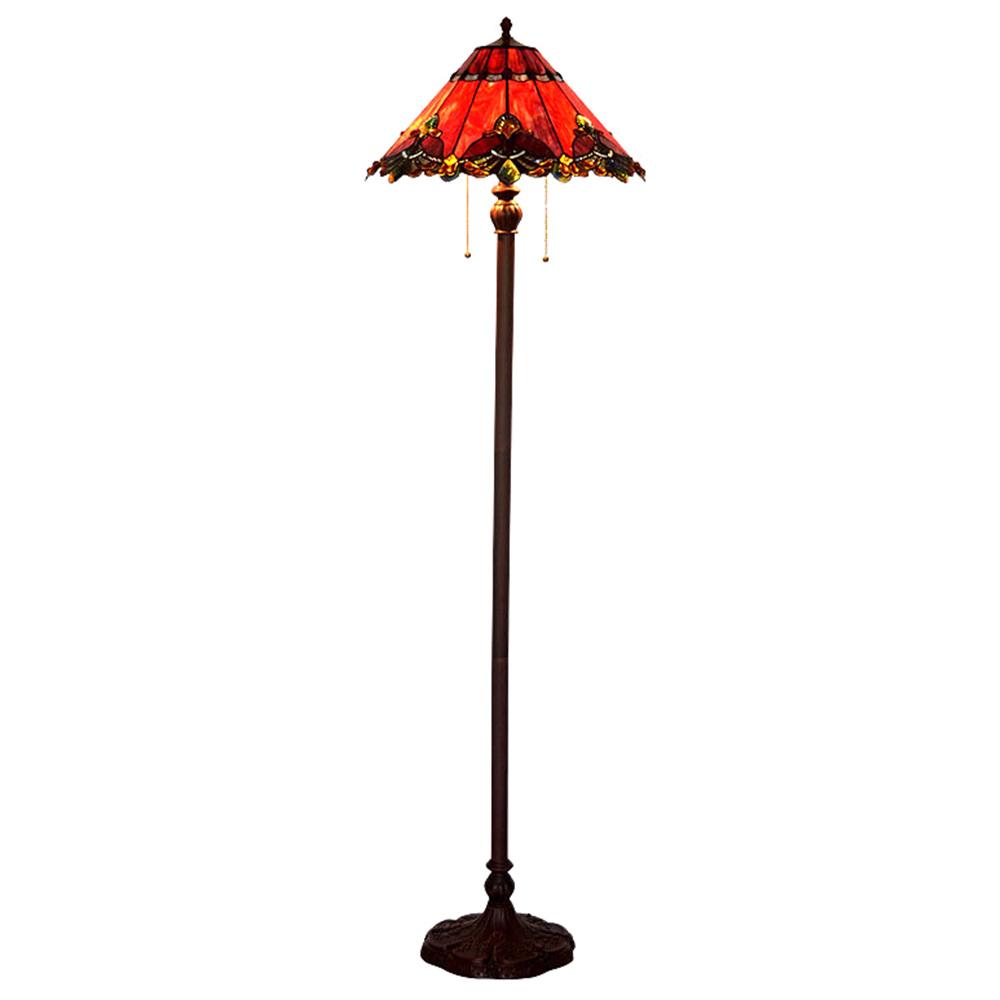 Tiffany Style Stained Gl Floor Lamp