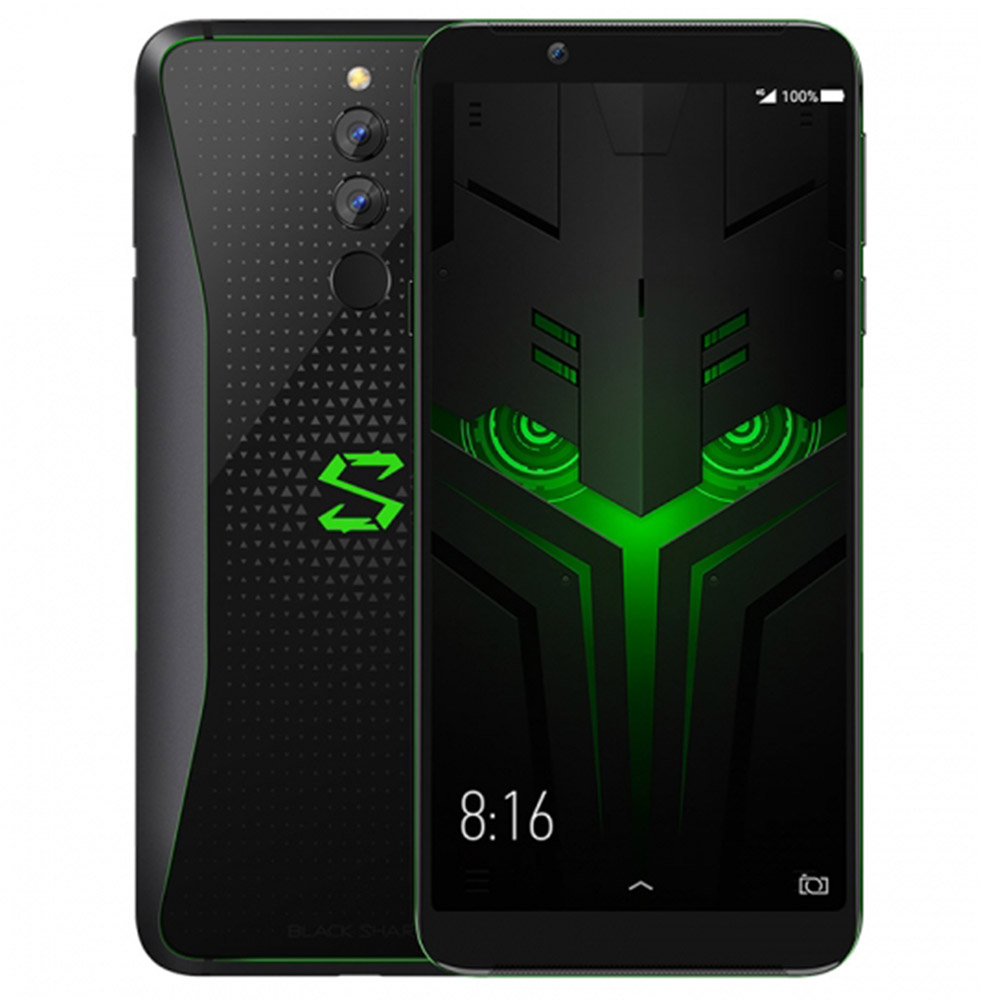 Xiaomi Black Shark Helo 6.01 Inch 4G LTE Gaming Smartphone Snapdragon 845 8GB 128GB 12.0MP+20.0MP Dual Rear Cameras Android 8.0 Type-C Ultrasonic Fingerprint ID - Black