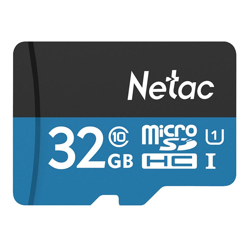 Netac P500 32GB Micro SD Kart TF Kartı Kadar 80MB / S - Mavi
