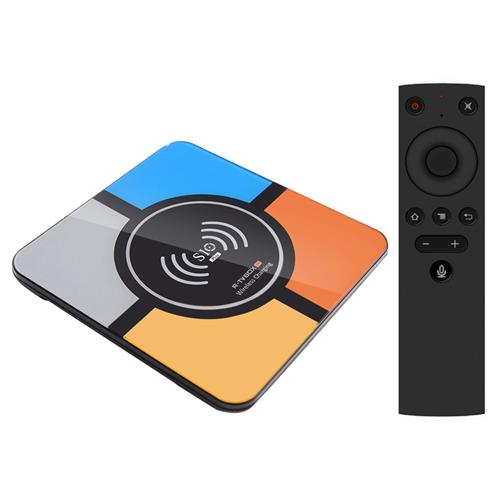 R-TV BOX S10 PLUS Android TV 7.1 RK3328 4GB/32GB KODI 18.0 4K TV Box with Voice Remote Wireless Charger WiFi LAN