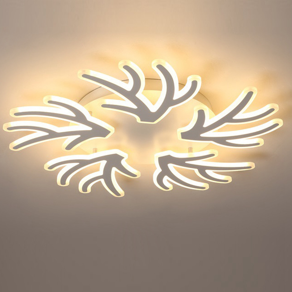 FUMAT Lampada da soffitto in acrilico post moderno post-moderno - Design creativo di rami (5 Lights 1 Layer Dia 78CM)