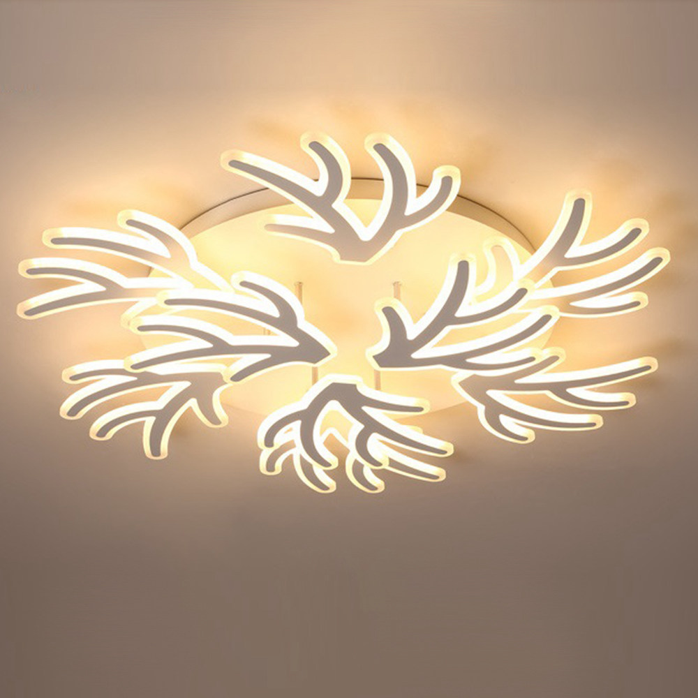 FUMAT Nordic Post-modern Acrylic Ceiling Light - Creative Branches Design (9 Lights 2 Layers Dia 100CM)