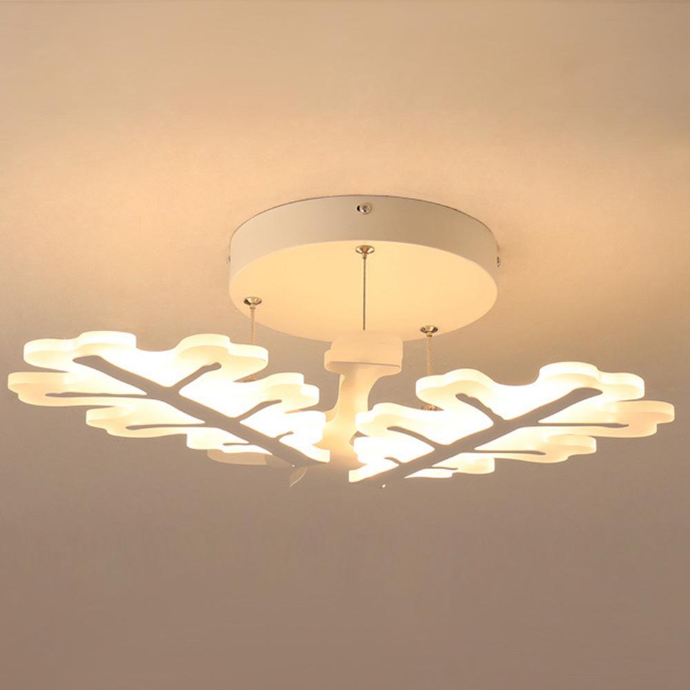 FUMAT Lampada da soffitto in acrilico postmoderno moderno post moderno - Design di albero di Natale minimalista con fiocco di neve con luci 2