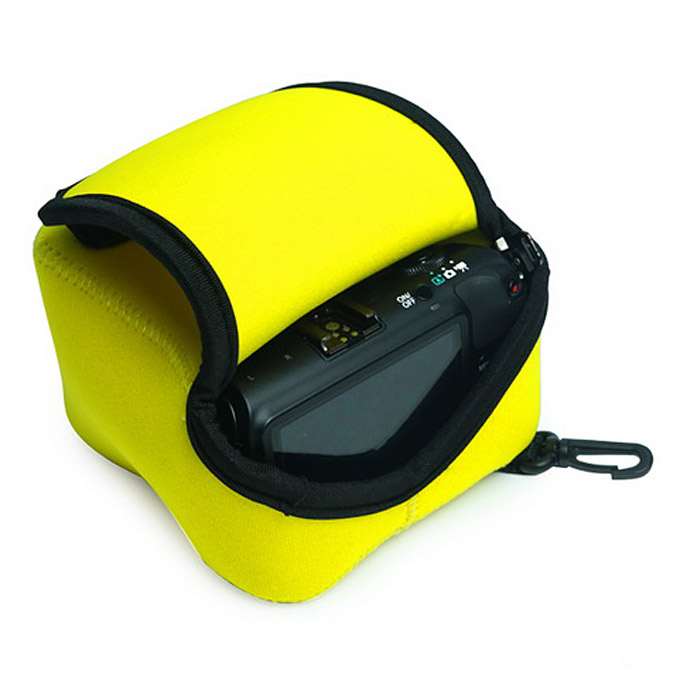 Neopine NE-NEXM High Quality Diving Material Soft Camera Bag Case for Sony NEX5N/NEX5 - Yellow