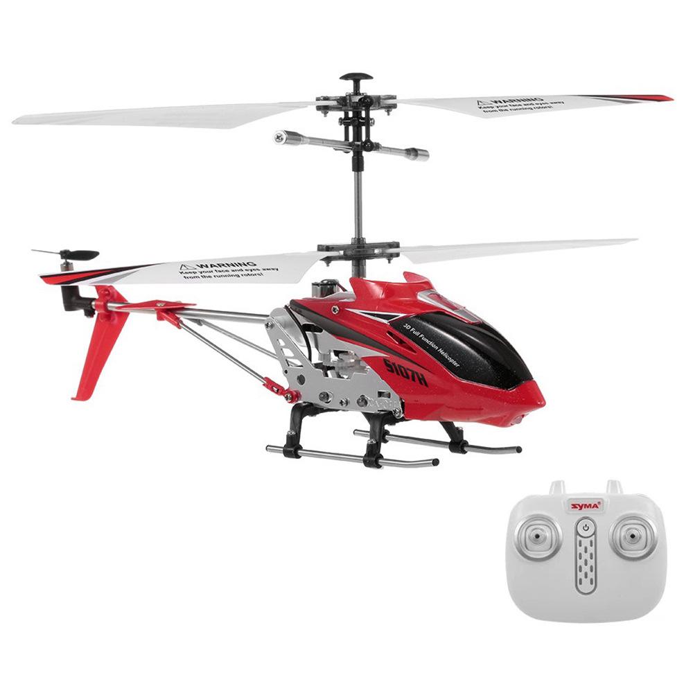 Syma S107H 2.4G 3CH RC Helikopter Alloy Copter beépített Gyro RTF - piros