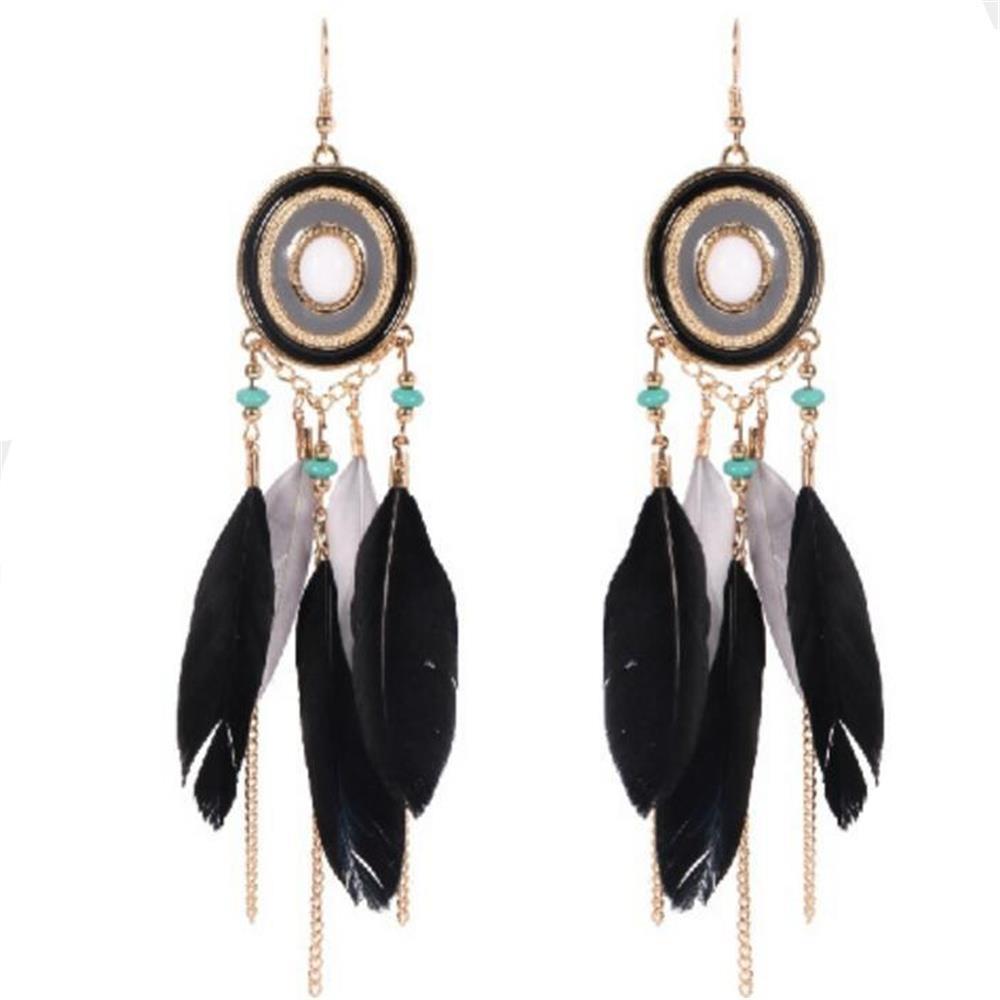 E6094 Fashion Beatiful Стильные серьги из ювелирных изделий - черный