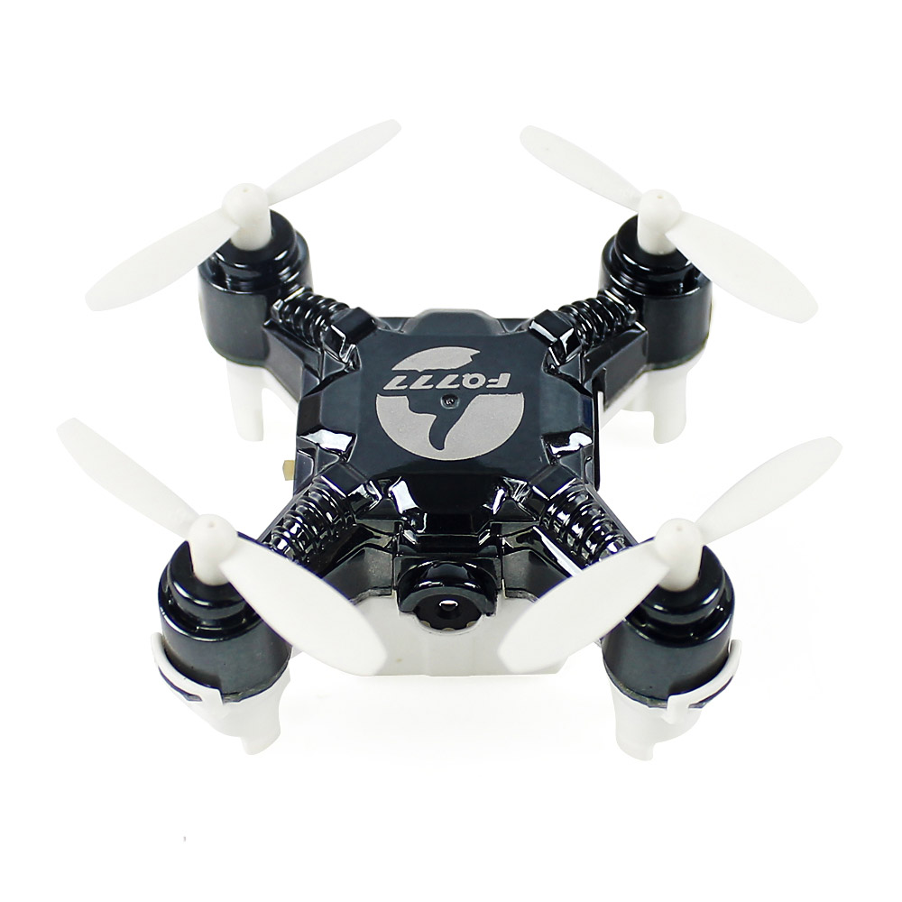 FQ777-124C MINI 2.0MP HD RC Quadcopter With Switchable Controller RTF - Black