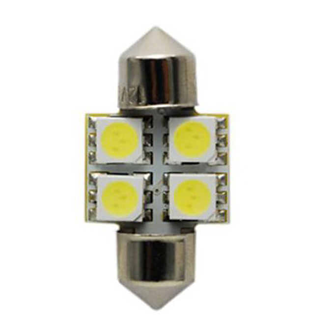 LED Autolampen S8.5 4SMD LED Autodachlampe / Leselampe LED Autolicht 31mm - Weiß