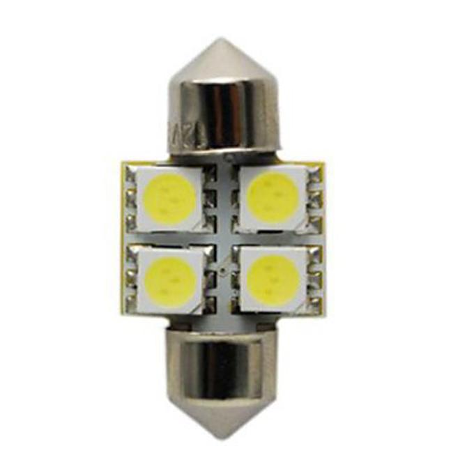 Светодиодные лампы для авто S8.5 4SMD Светодиодная лампа для крыши автомобиля / лампа для чтения Светодиодная лампа для автомобиля 31mm - белый