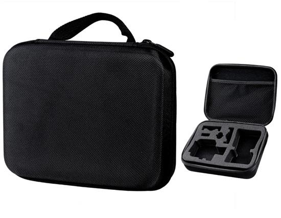DS0300B  Durable Hard Cover Cube Protector Bag Fits GoPro HD HERO 3+ /3 /2/1 Camera - Black