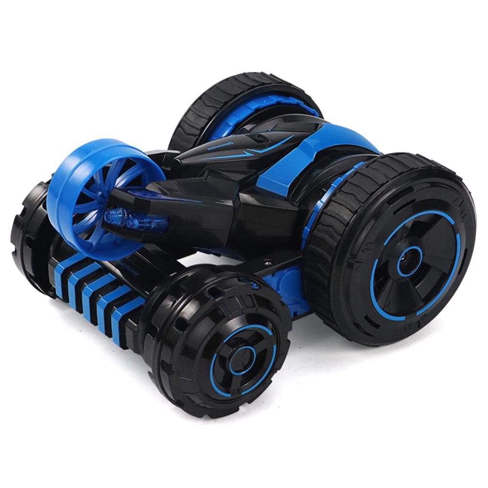 JJRC Q49 ACRO 2.4G 6CH RC Stunt Car Five-Wheel System 360 Degree Rotation with One Key Transform RTR - Blue