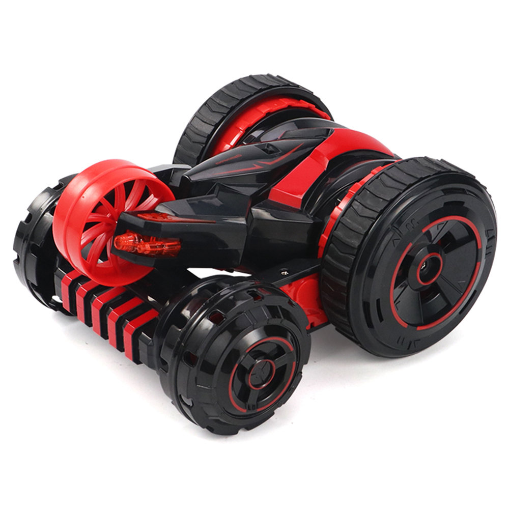 JJRC Q49 ACRO 2.4G 6CH RC Stunt Car Five-Wheel System 360 Degree Rotation with One Key Transform RTR - Red