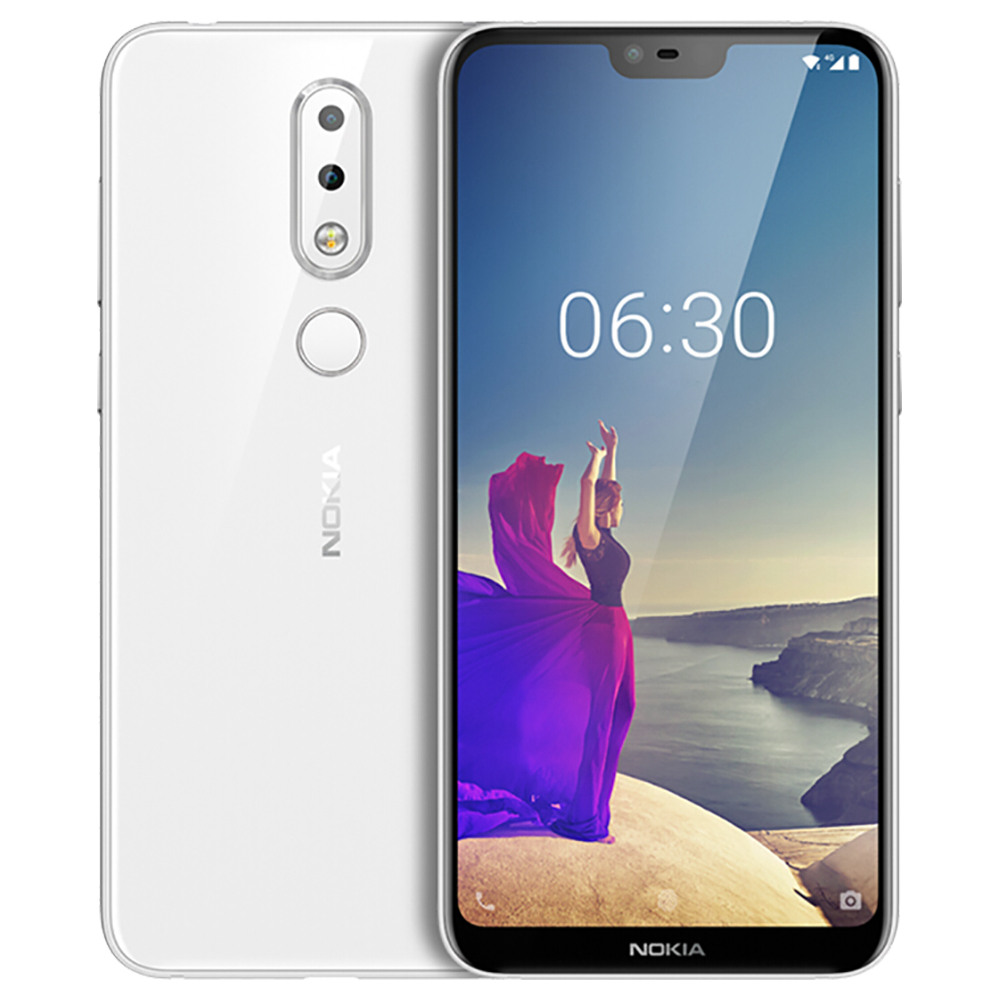 NOKIA X6 5.8 Inch 4G LTE Snapdragon per smartphone 636 6GB 64GB 16.0MP + 5.0MP Dual Rear Telecamere Android 8.1 Face ID Fast Charge Global ROM - Bianco