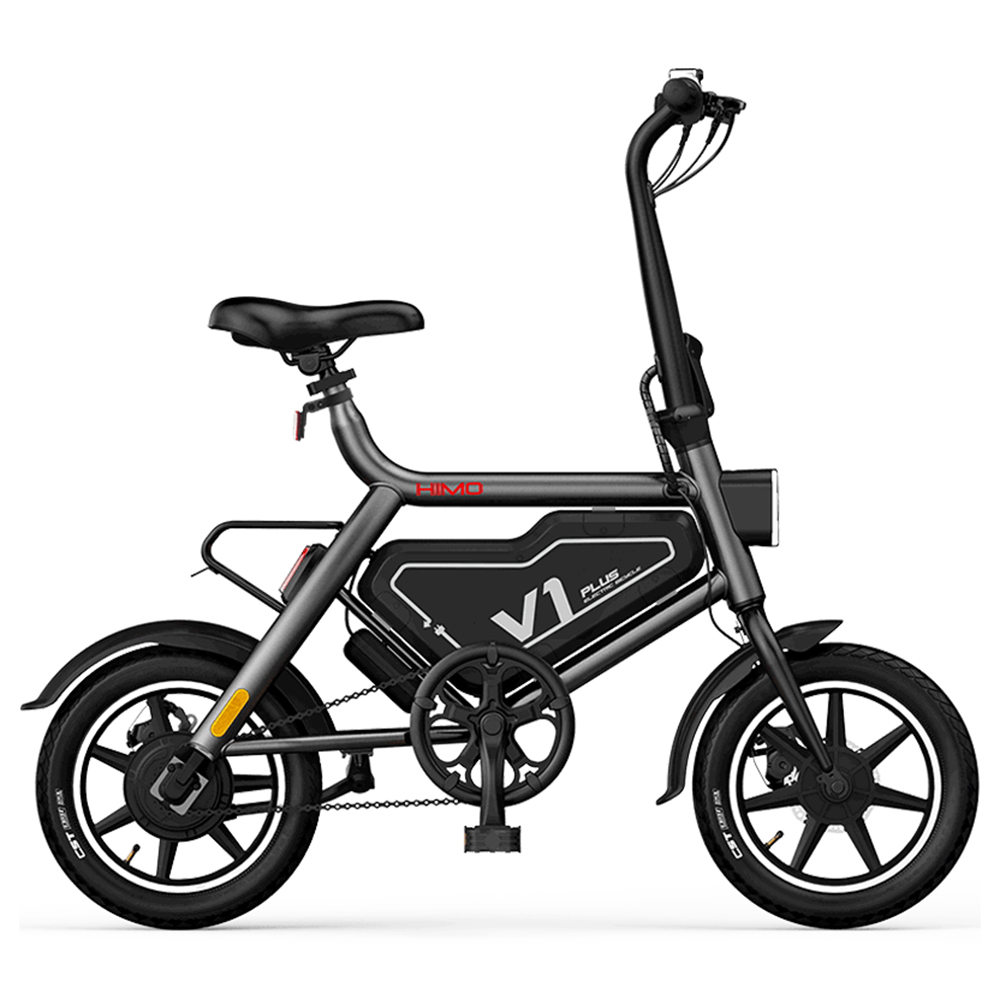 HIMO V1 Plus Portable Folding Electric Moped Bicycle 250W Motor 14 Inch 7.8Ah Battery 25km / h Max speed Lightweight Design - Grey