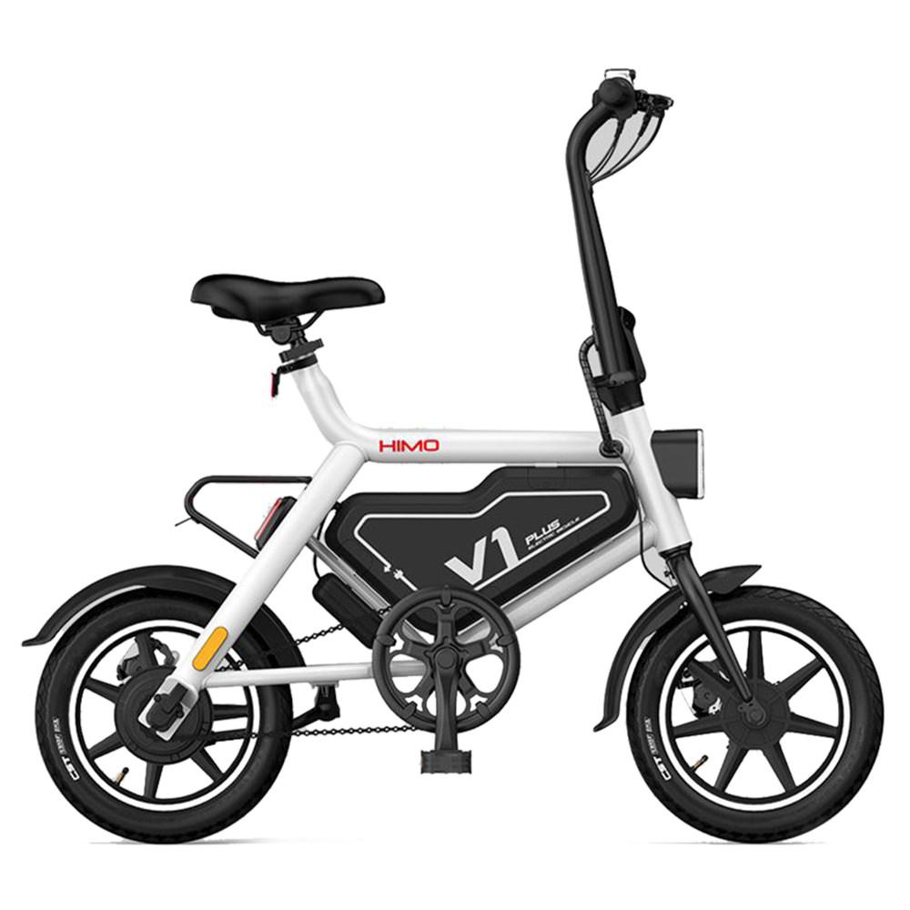 HIMO V1 Plus Tragbares zusammenklappbares elektrisches Moped-Fahrrad 250 W Motor 7.8 Ah Batterie 25 km / h Höchstgeschwindigkeit 14 Zoll Leichtbau - Weiß