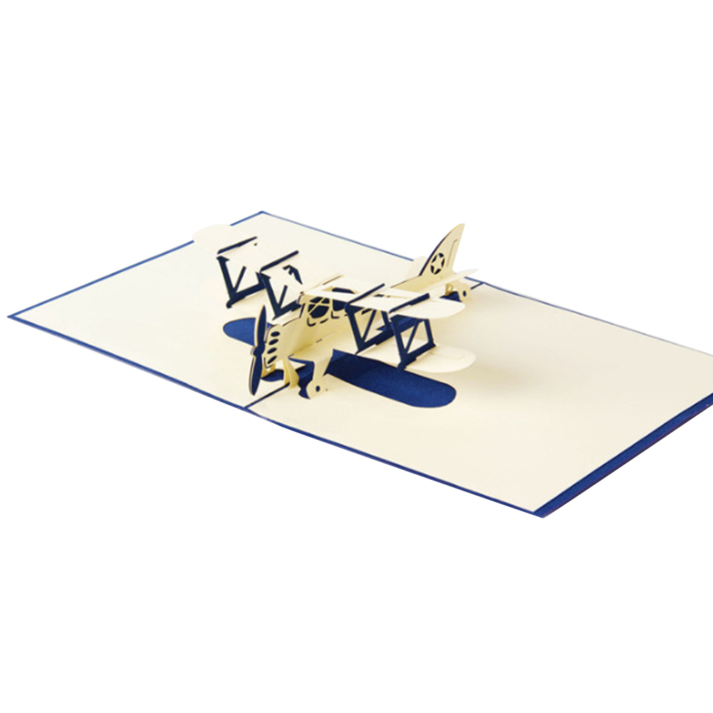 Astounding 3D Pop Up Gift Card Blue Aircraft Pop Up Card Funny Birthday Cards Online Inifofree Goldxyz