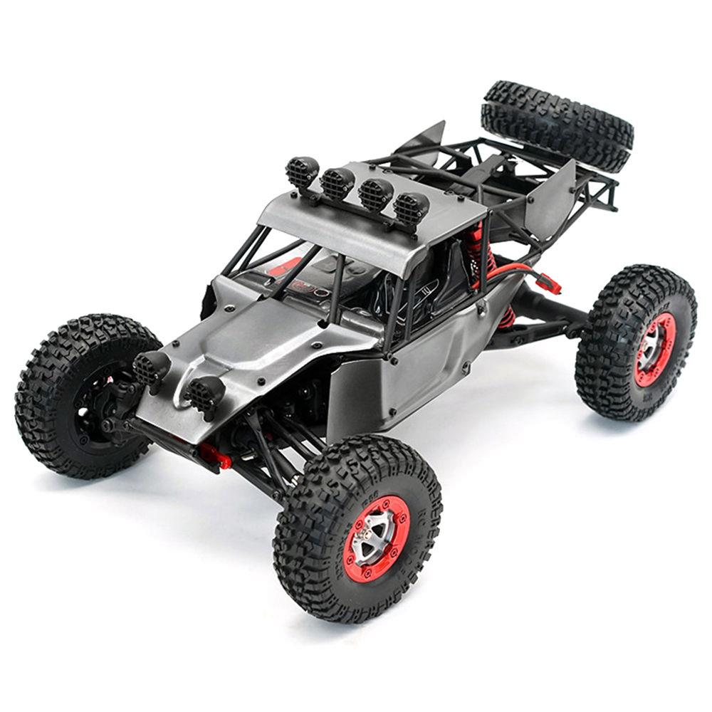 Feiyue FY03H Eagle-3 1: 12 2.4G 4WD Brushless Metal Body Desert Camion ad alta velocità Off-road RC Car RTR - Grigio