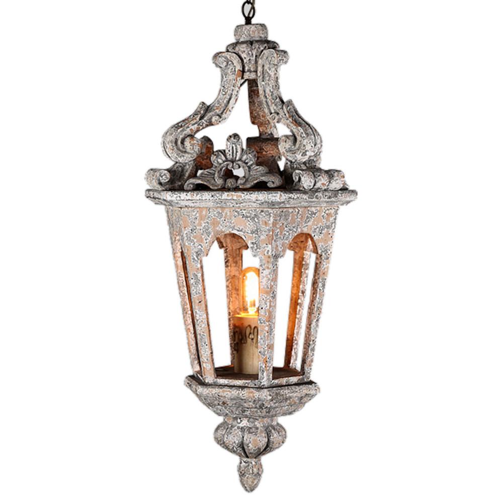 FUMAT الأمريكية فن الديكور قلادة مصباح - العتيقة التشطيب تصميم خشبي (نوع A)