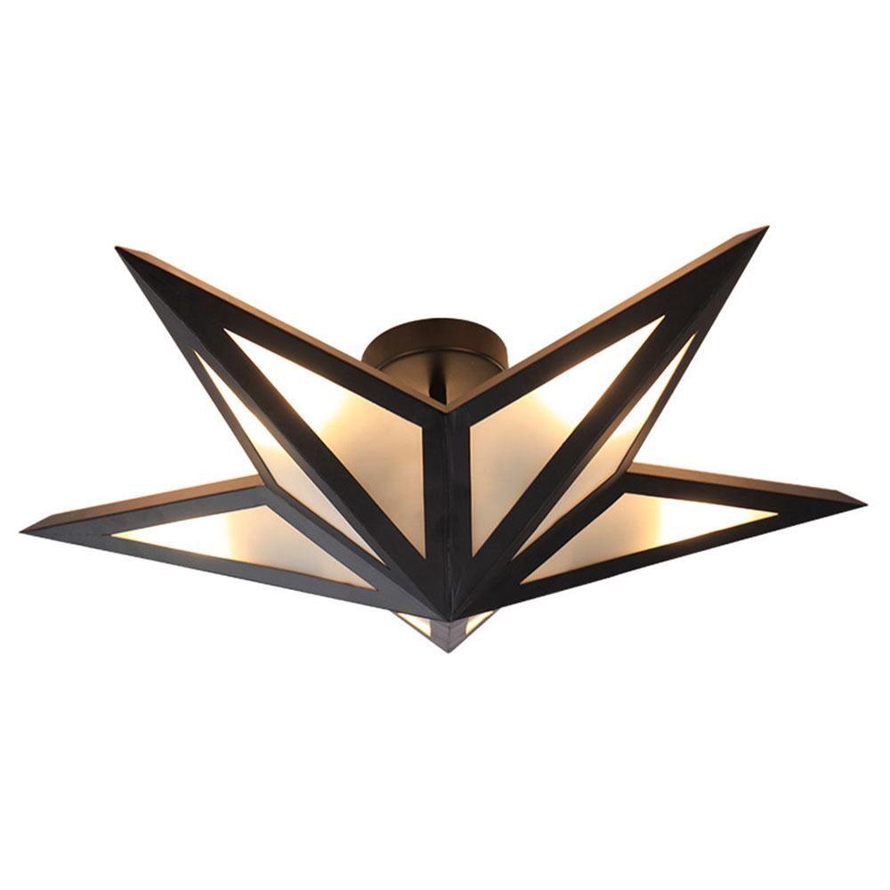 FUMAT Nordic Modern Ceiling Light - Creative Black Pentagram Design
