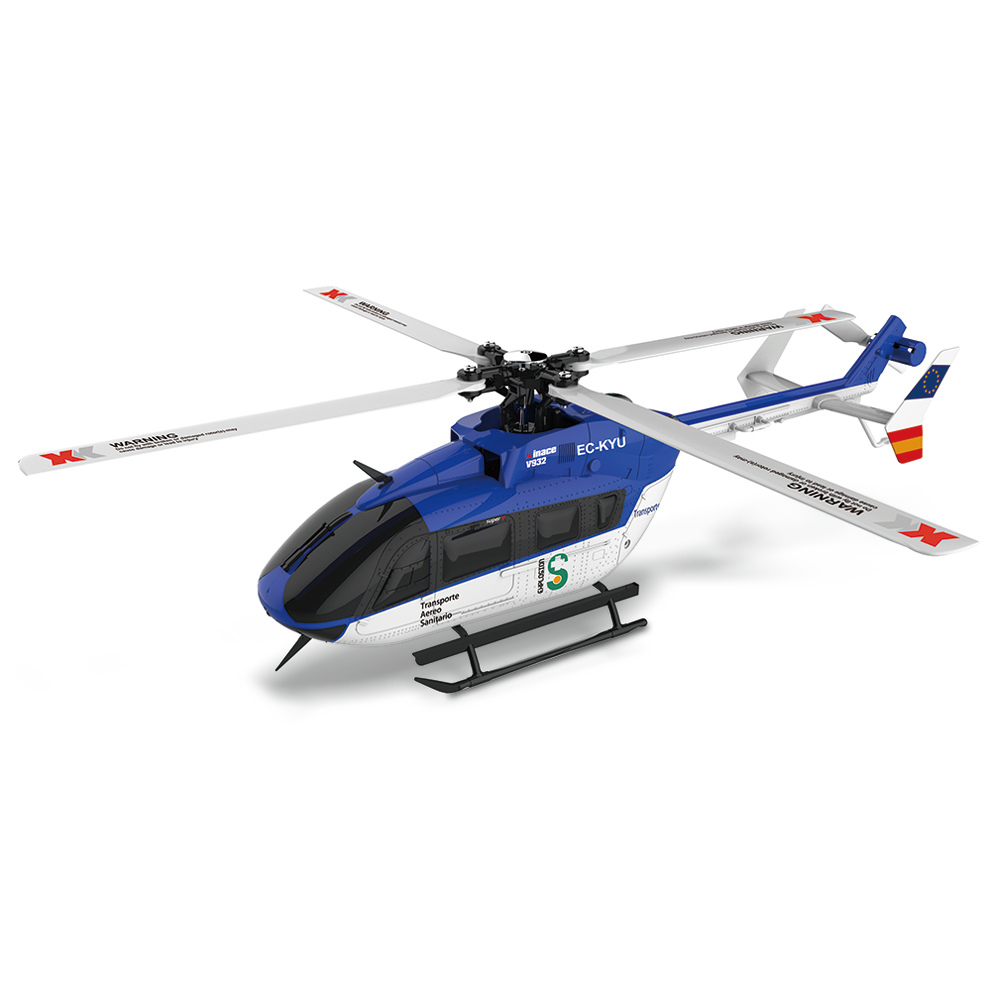 XK K124 EC145 6CH Brushless RC Helicopter 3D 6G Systeem omgekeerde Flight Copter RTF