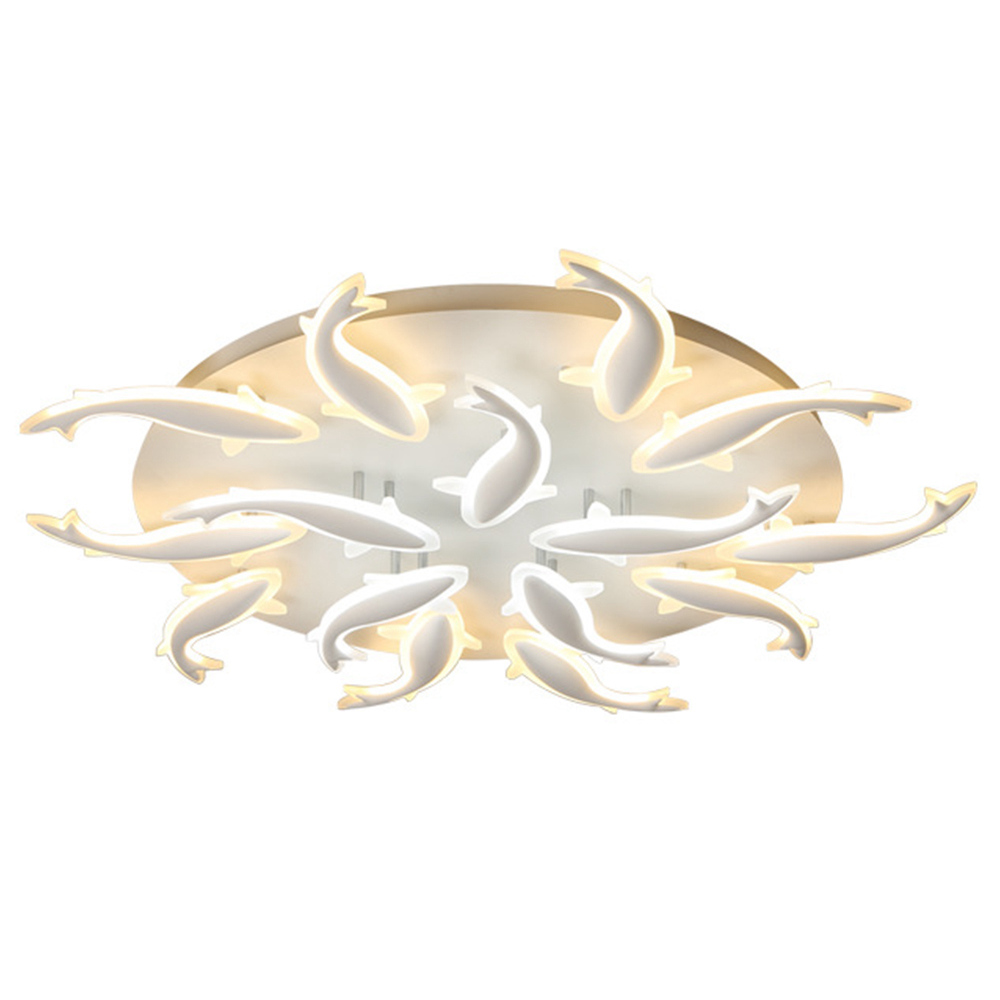 FUMAT Nordic Modern Acrylic Ceiling Light - Minimalist Leaping Fishes Design met 5 Lights