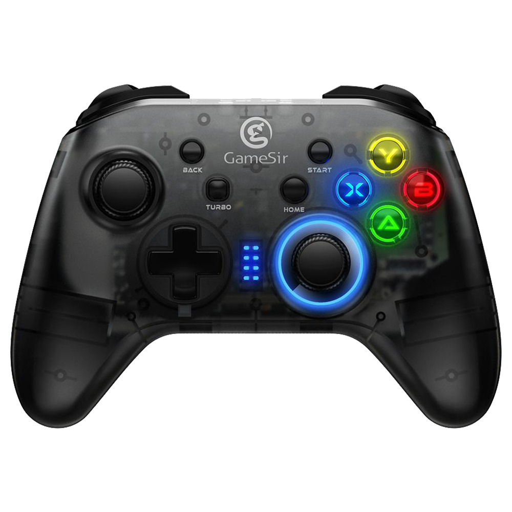 GameSir T4 2.4G Wireless/Wired Game Controller for Windows (7/8/9/10) PC No Phone holder - Black