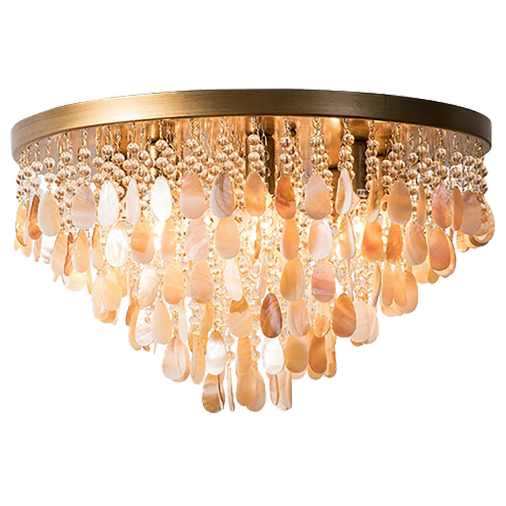 FUMAT Nordic Ceiling Light - Creative Shell Design Copper Color with 9 Lights