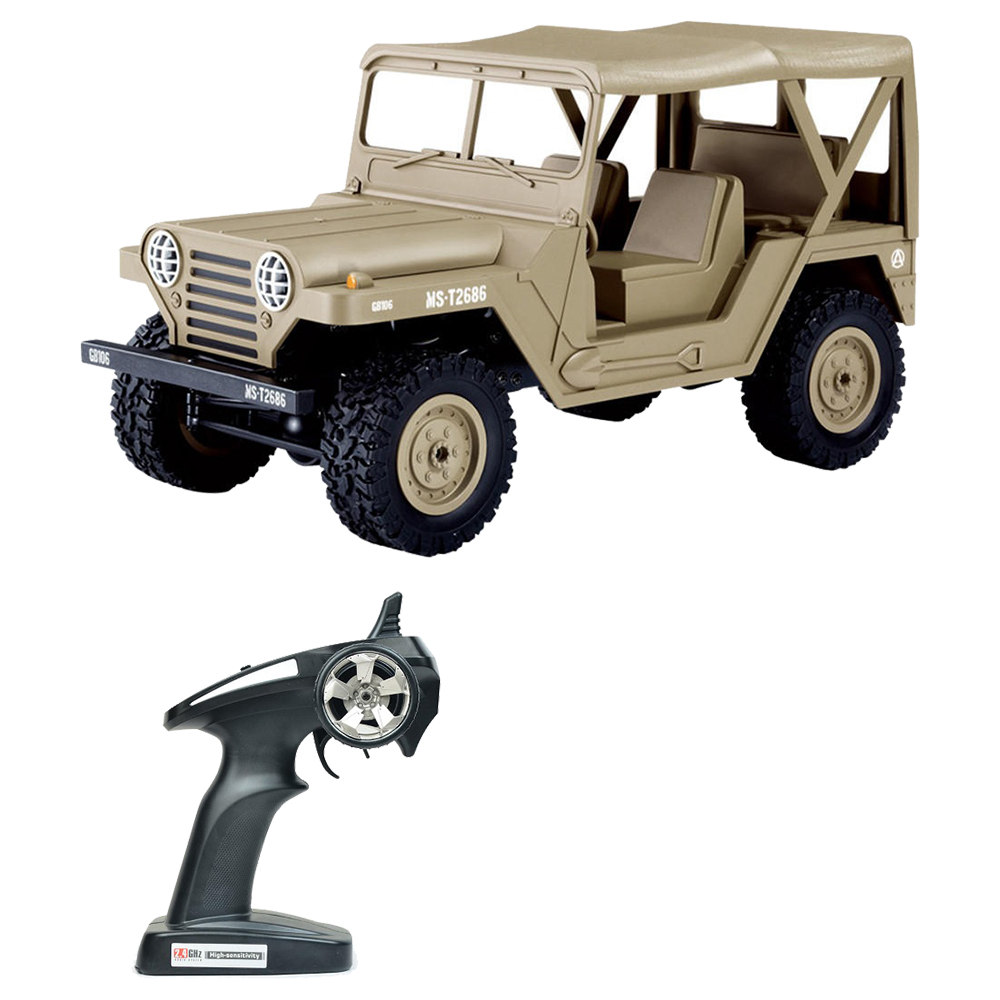 SUBOTECH BG1522 USM151 JEEP 1 / 14 2.4G 4WD OFF-Road RC Car con luci a LED RTR - Giallo