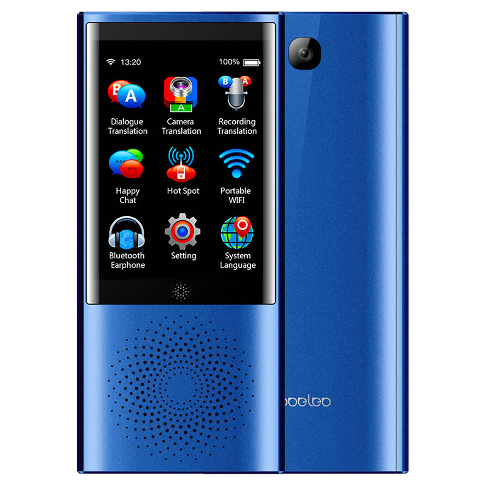 boeleo W1 AI Touch Control Voice Translator Blue