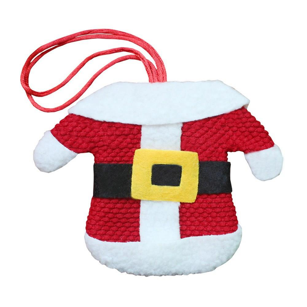Christmas Gifts Knife Fork Bags Small Clothes - Santa Claus Coat