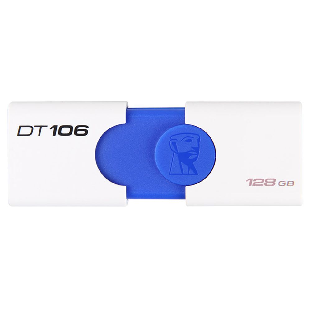 Kingston DT106 128GB USB Flash Drive USB3.1 Interface Read Speed 130MB/s - White + Blue