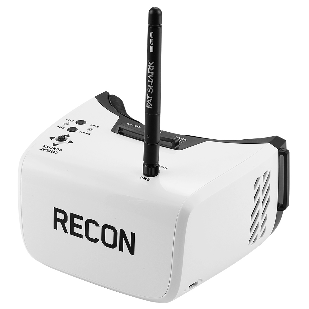 "Fat Shark Recon V2 5.8G 40CH FPV Goggles with 4.3"" LCD Panel Support DVR"