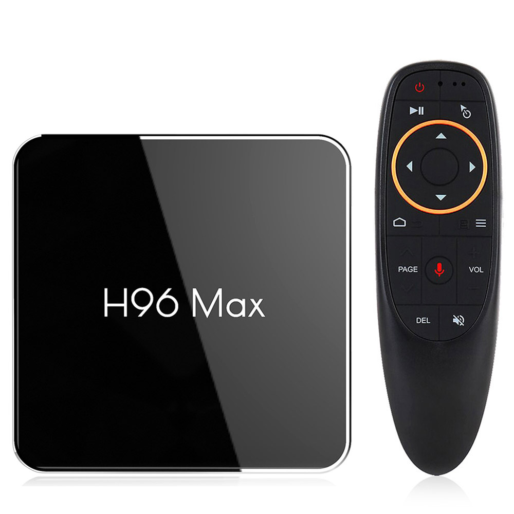 H96 MAX X2 Amlogic S905X2  Android 8.1 4GB DDR4 64GB eMMC 4K TV Box with Voice Remote KODI 18.0 Dual Band WiFi LAN Bluetooth USB3.0 HDMI