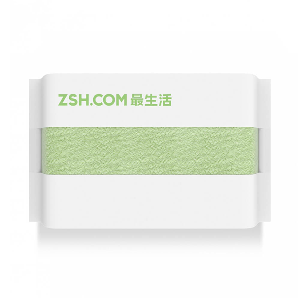 Xiaomi ZSH Towel Powerful Absorption Antibacterial Long-staple Cotton Sealed Packaging Youth Series - Green