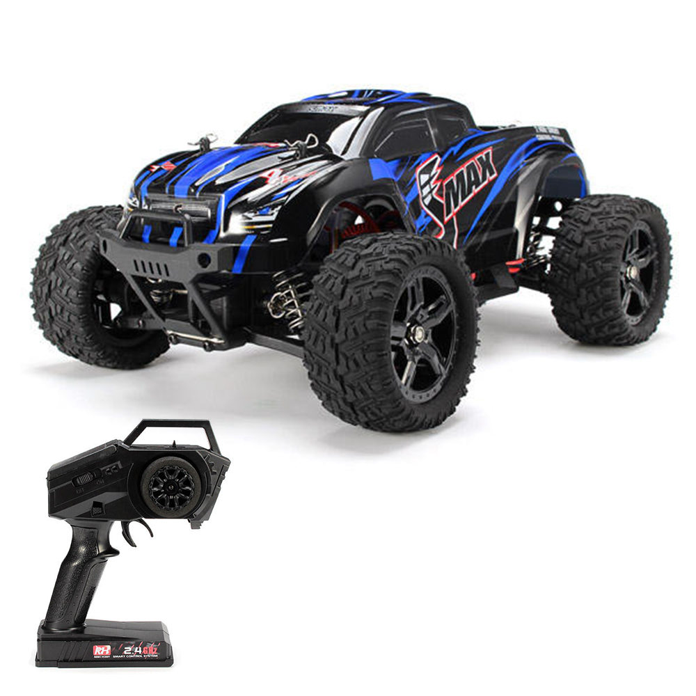 Remo Hobby 1631 SMAX 2.4G 1: 16 4WD Spazzolato Off-road RC Car Monster Truck RTR - Blu