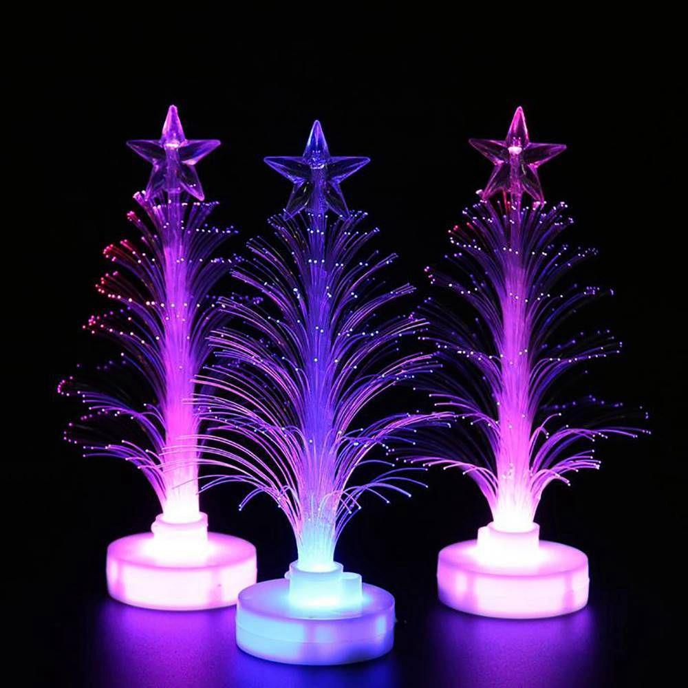 Lampada da albero a LED a fibre ottiche con illuminazione a LED Albero di Natale con luce diurna Regalo romantico - multicolore