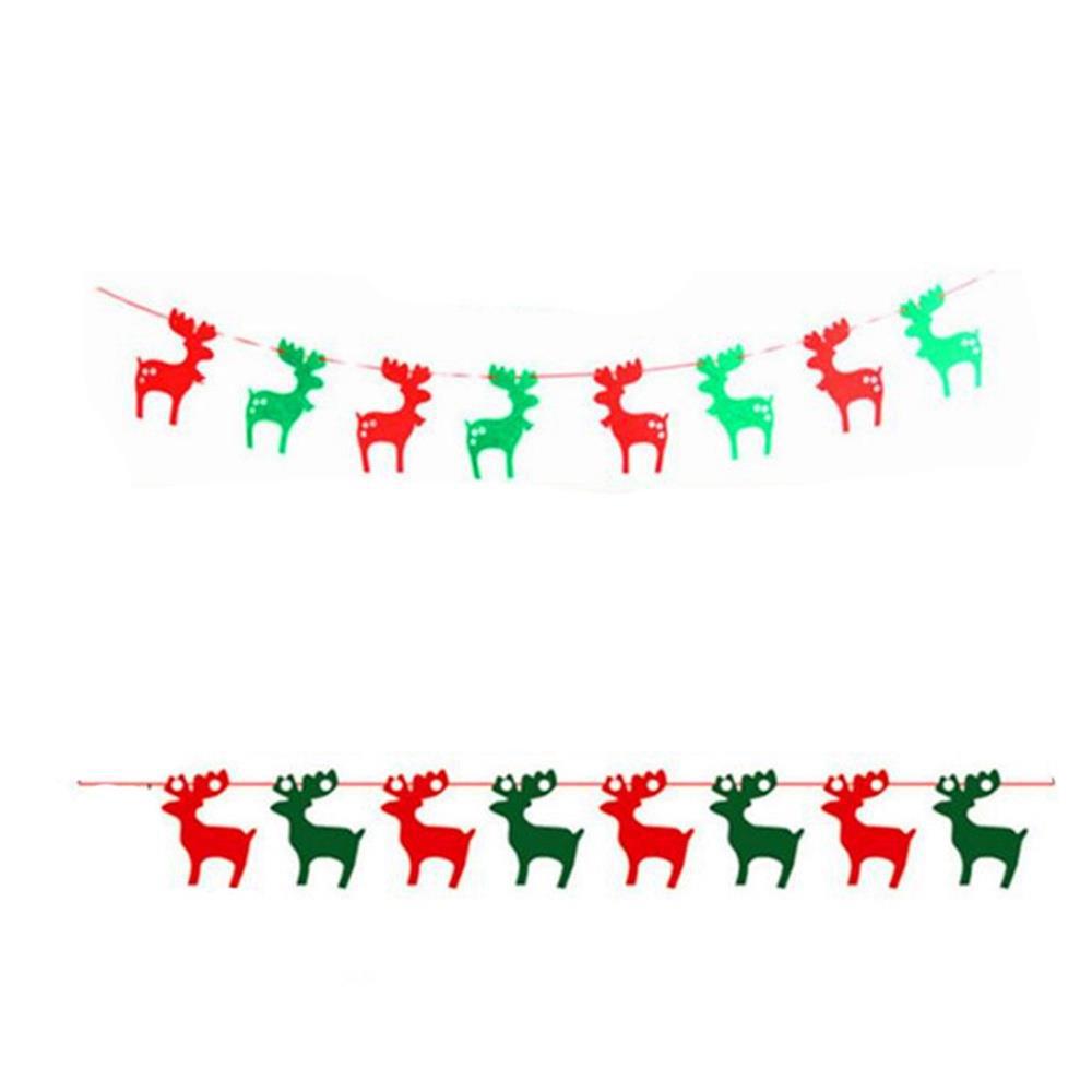 Drapeaux de chaîne Drapeaux suspendus pour décorations de Noël Centres commerciaux - Cerf de Noël