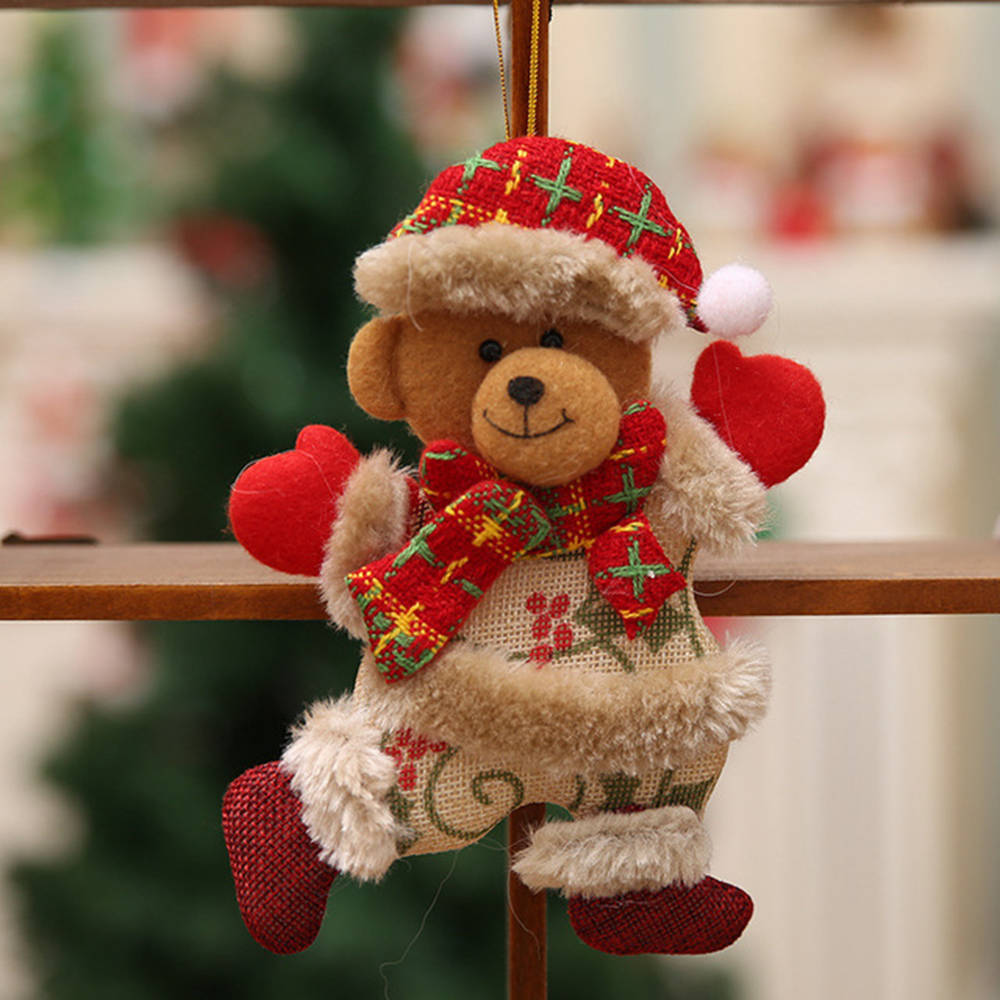 1PC Cute Christmas Tree Decoration Pendant Bear