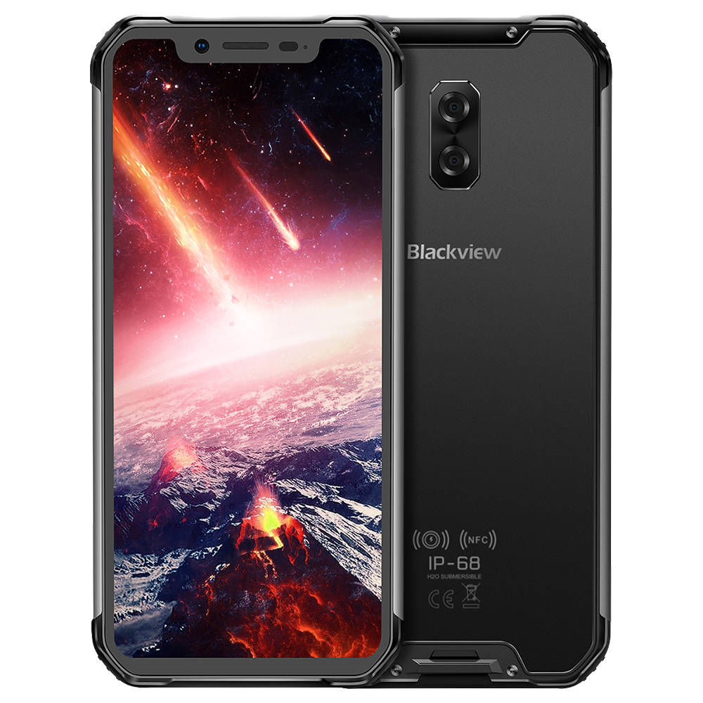 Blackview BV9600 pro 6.21 Inch 4G LTE Smartphone Helio P60 6GB 128GB 16.0MP + 8.0MP Doppio posteriore Telecamere Android 8.1 IP68 Wireless Charging NFC Face Unlock - Grigio
