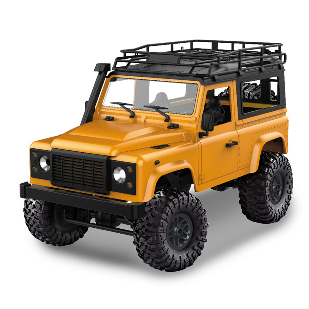 MN Model MN-90 2.4G 1:12 4WD Brushed Off-road Climbing RC Car RTR - Yellow