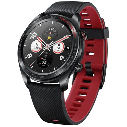 Huawei Honor Magic Smart Watch 1.2 Inch AMOLED-kleurenbeeldscherm Ingebouwde GPS NFC Payment hartslagmeter 5ATM Waterproof - Zwart