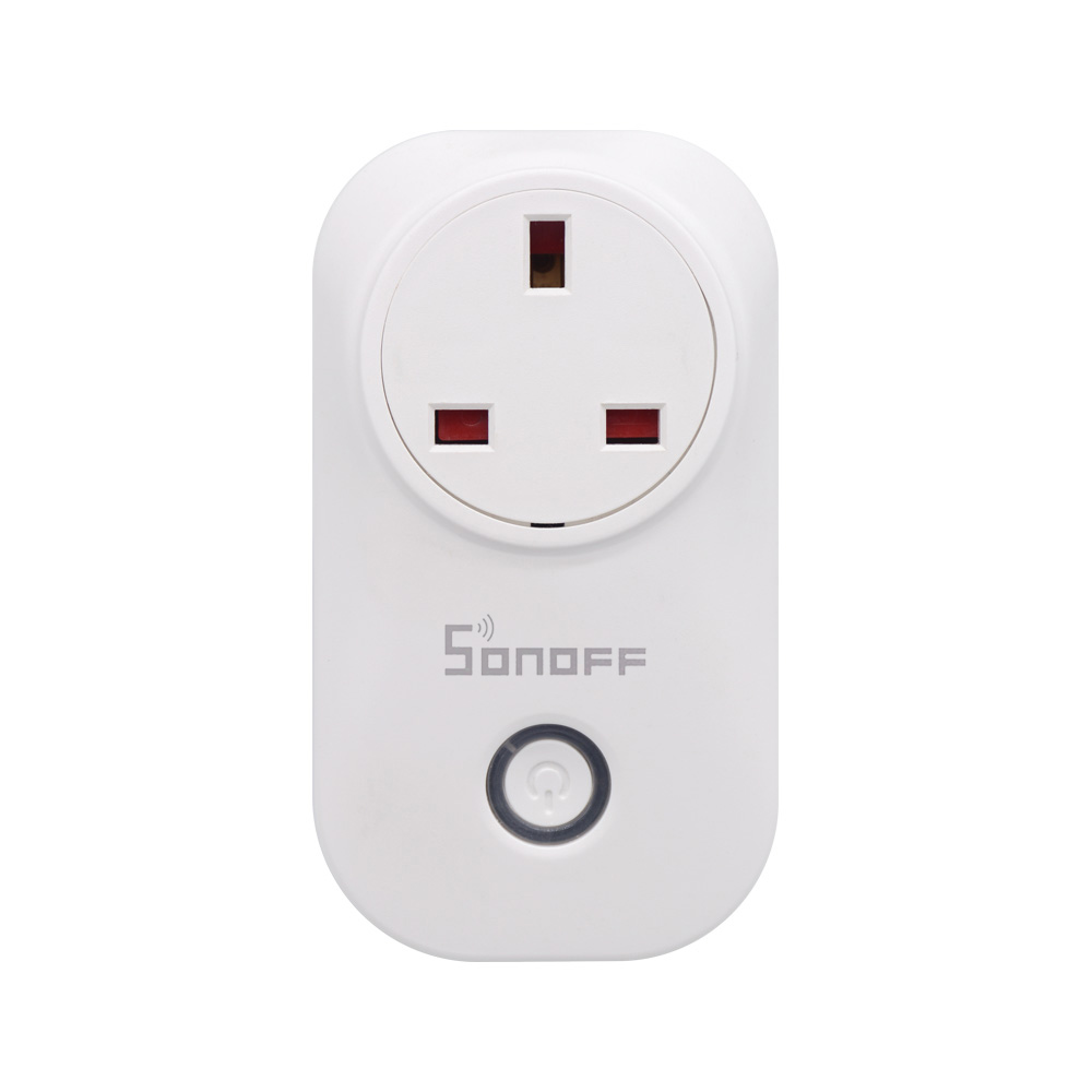 Sonoff S20 UK 10A Mini Wifi Smart Socket Home Power Consumption Measure Monitor Energy Usage - White / UK Plug