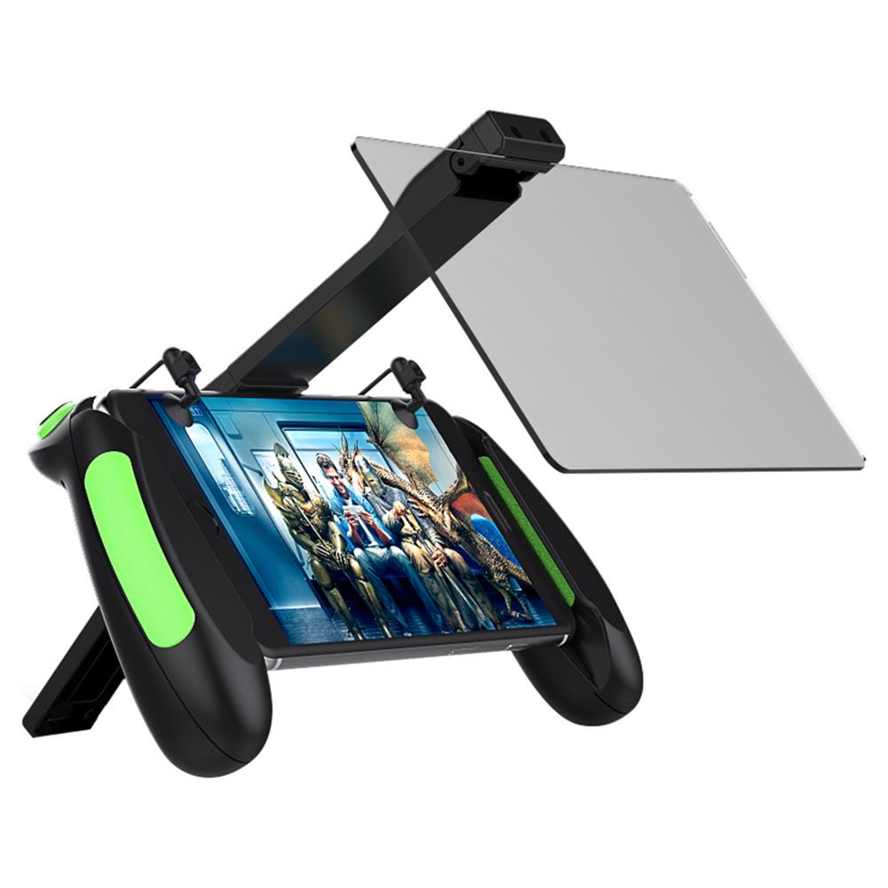 VR SHINECON SC-B06 Support de l'amplificateur d'écran de téléphone portable Gamepad Double Mirror PUBG - Noir