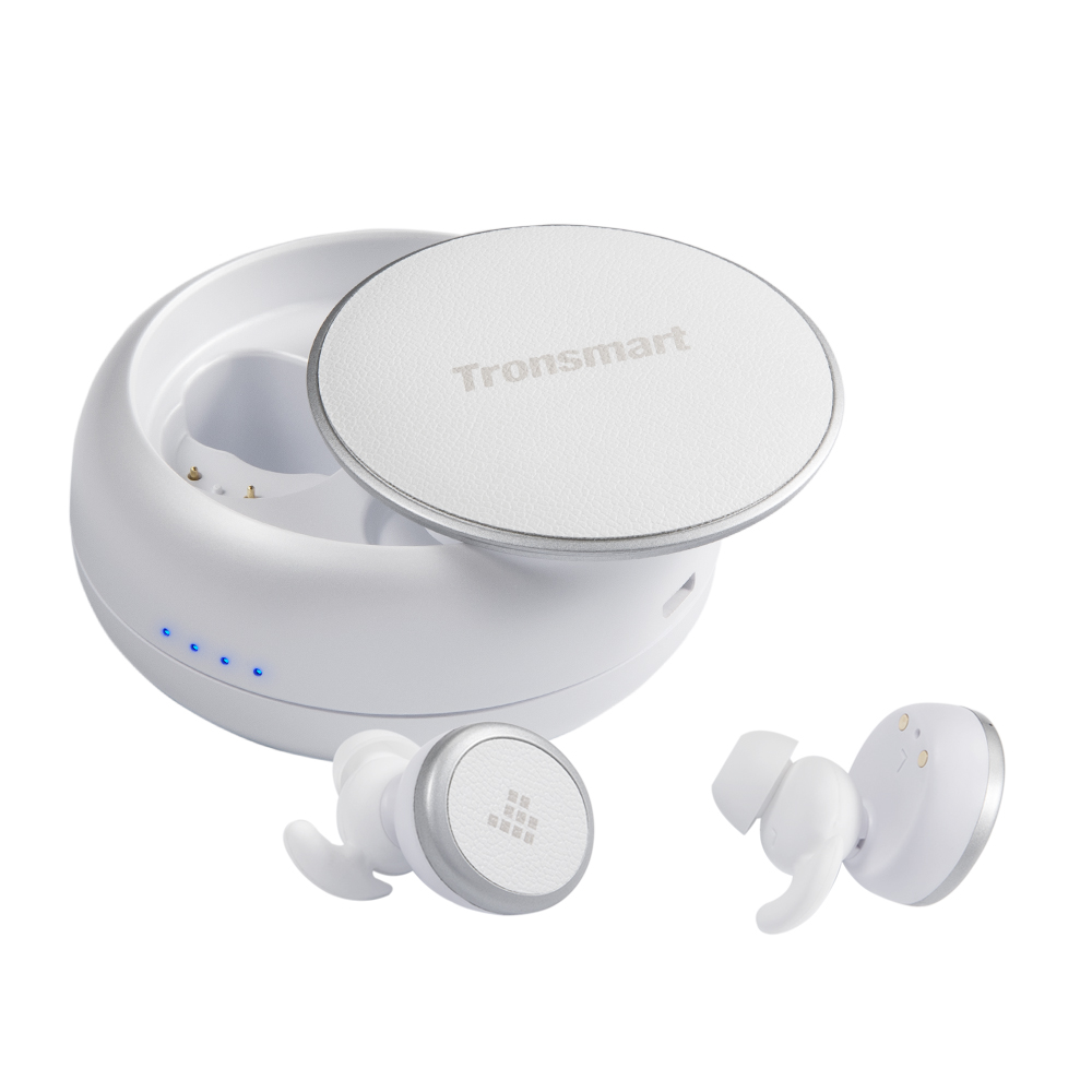Tronsmart Encore Spunky Buds Bluetooth 5.0 TWS Earbuds 12 Hours Playtime Siri Google Assistant IPX5 Water Resistant - White