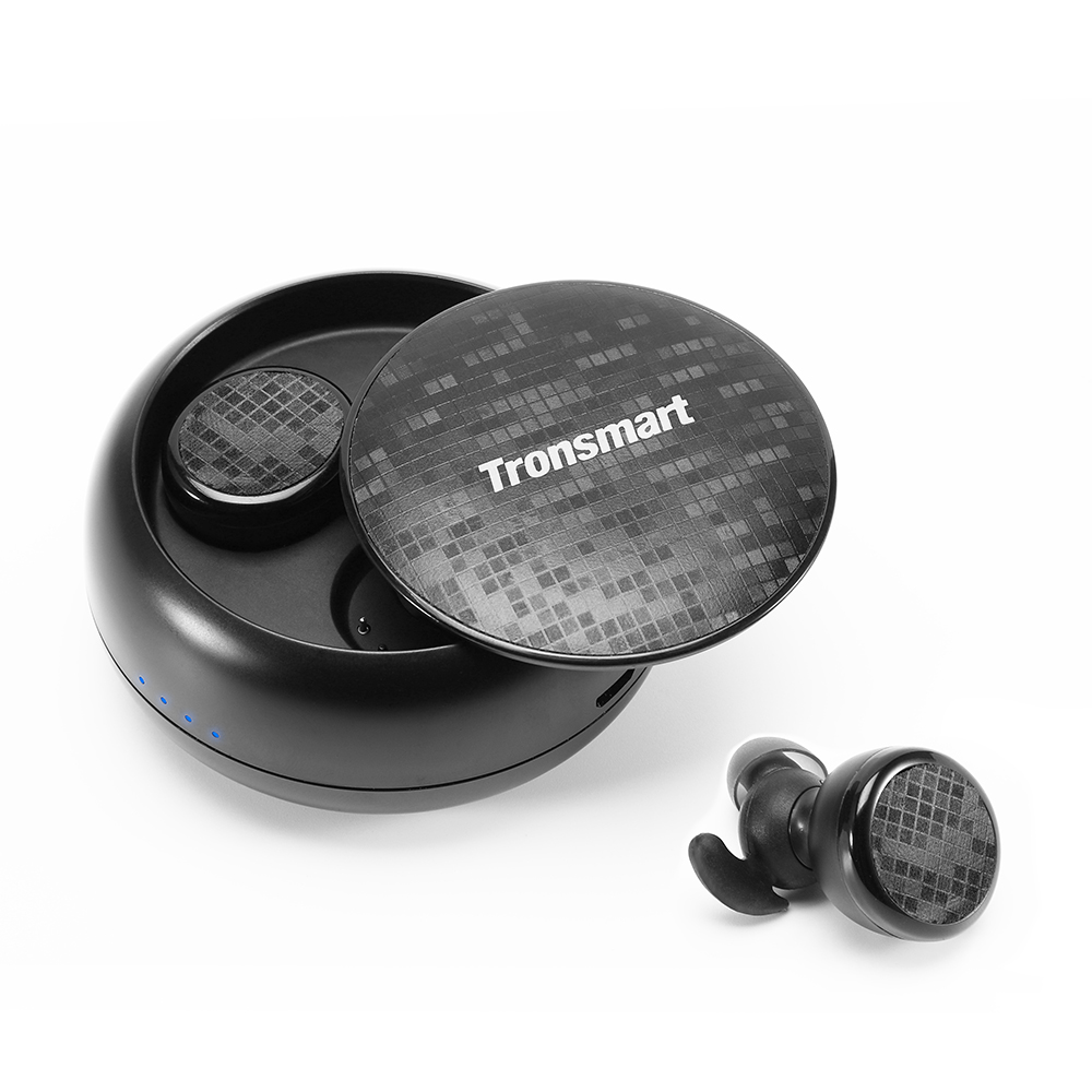 Tronsmart Encore Spunky Buds Bluetooth 5.0 TWS Earbuds 12 Hours Playtime Siri Google Assistant IPX5 Water Resistant- Black