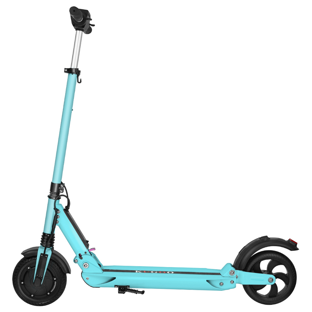 KUGOO S1 Folding Electric Scooter 350W Motor LCD Display Screen 3 Speed Modes 8.5 Inches Solid Rear Anti-Skid Tire IP54 Waterproof - Blue