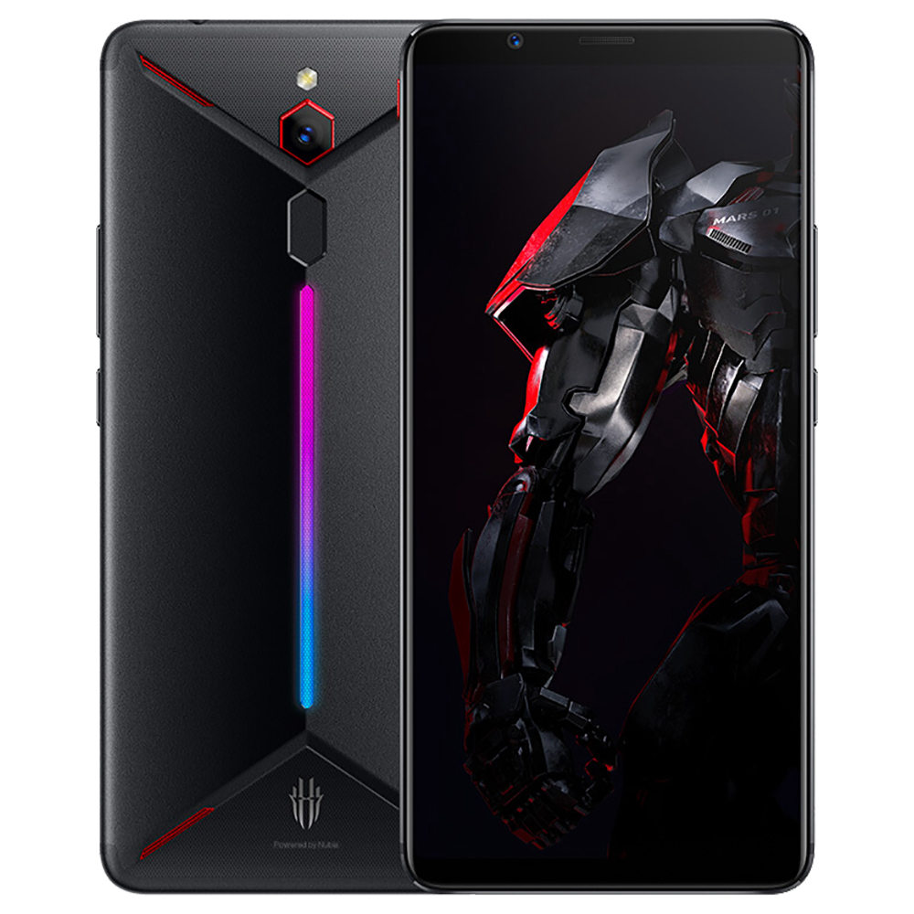 Nubia Red Magic Mars 6.0 Zoll 4G LTE Gaming-Smartphone Snapdragon 845 8GB 128GB 16.0MP Rückfahrkamera Android 9.0 Typ C Touch ID OTG - Schwarz